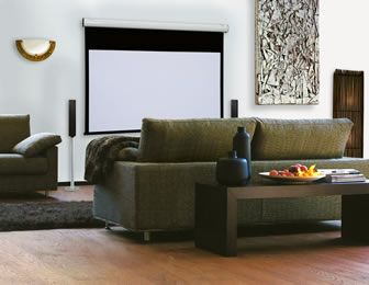 Compact Home Cinema Electric Roller Screen